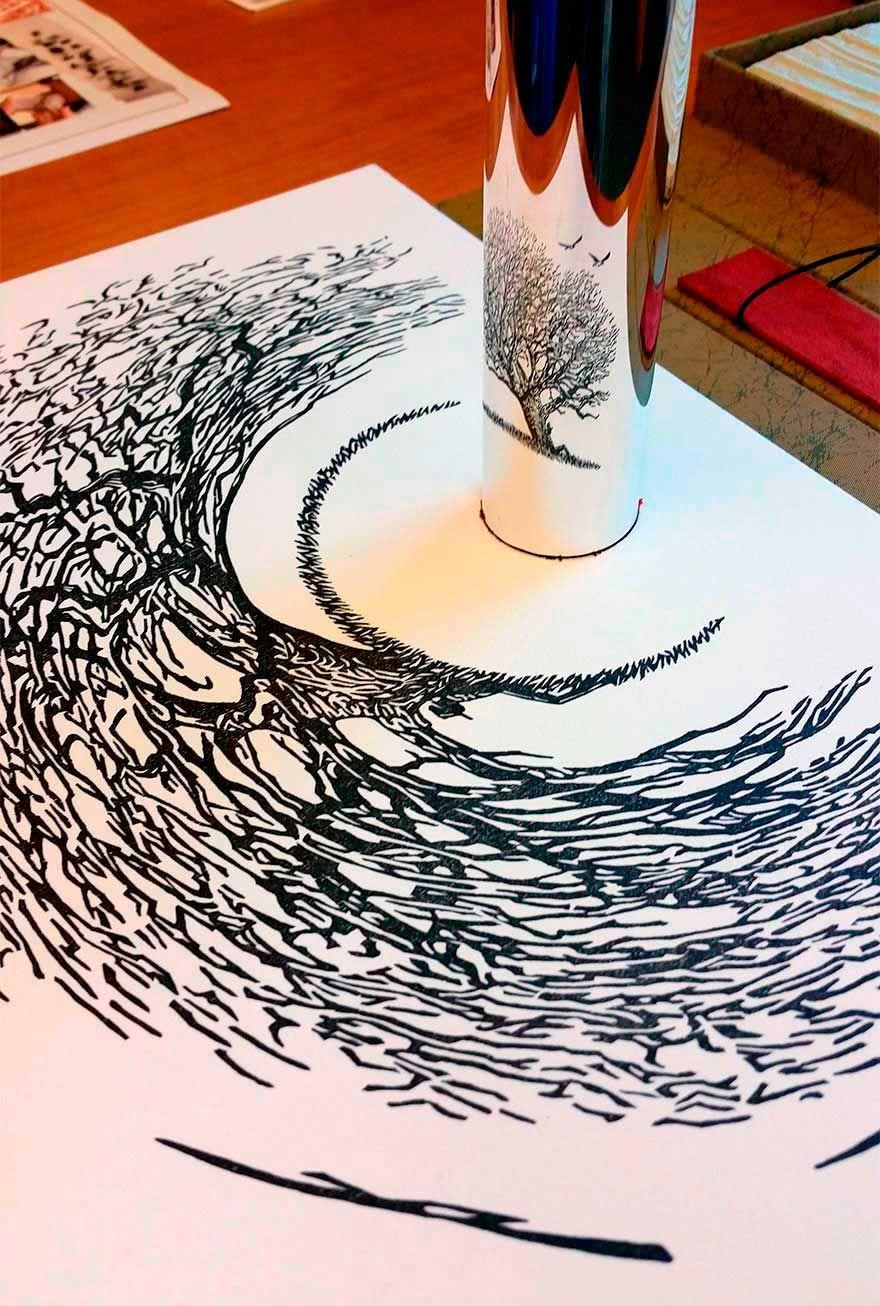 20 Maravillosas obras de arte que sólo puedes ver reflejadas en un ...