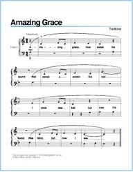 Amazing Grace Free Printable Sheet Music For Piano Piano Sheet