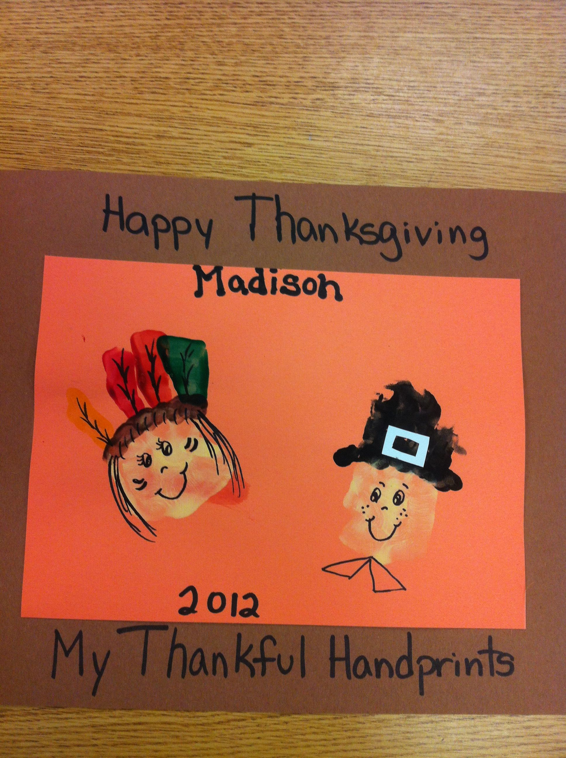 Handprints Without The Thumbs Turned Into Pilgrim And