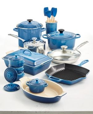 Le Creuset Multi Materials 20 Pc Cookware Set Created For Macy S Reviews Cookware Kitchen Macy S Cookware Set Kitchen Decor Brown Kitchens
