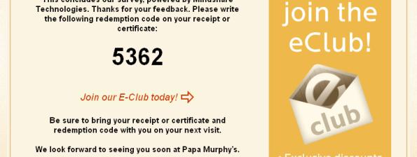 Papa MurphyS Customer Satisfaction Survey WwwPapasurveyCom