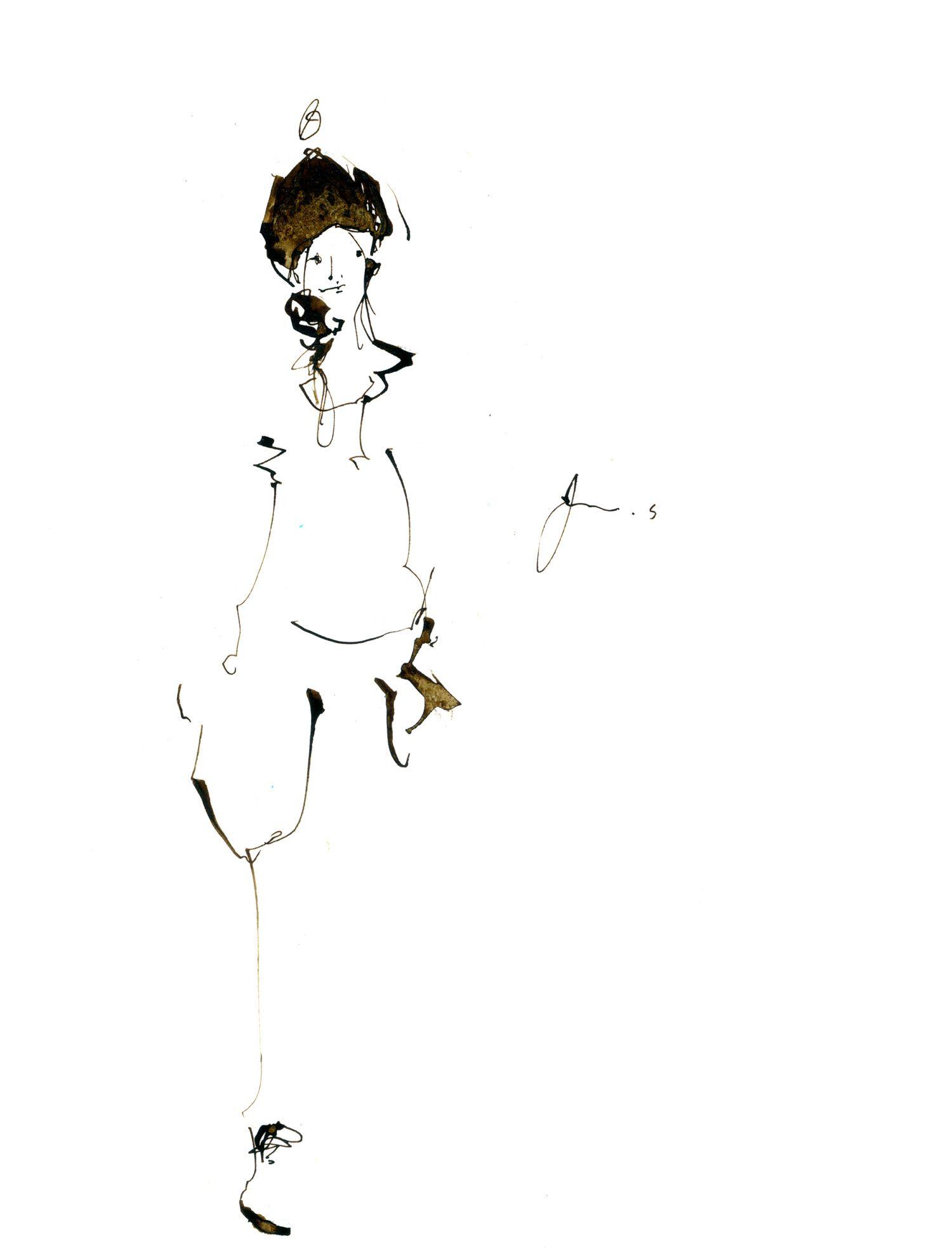 イラスト #女の子 #女性 #アート #ドローイング #インク #ペン #かわいい