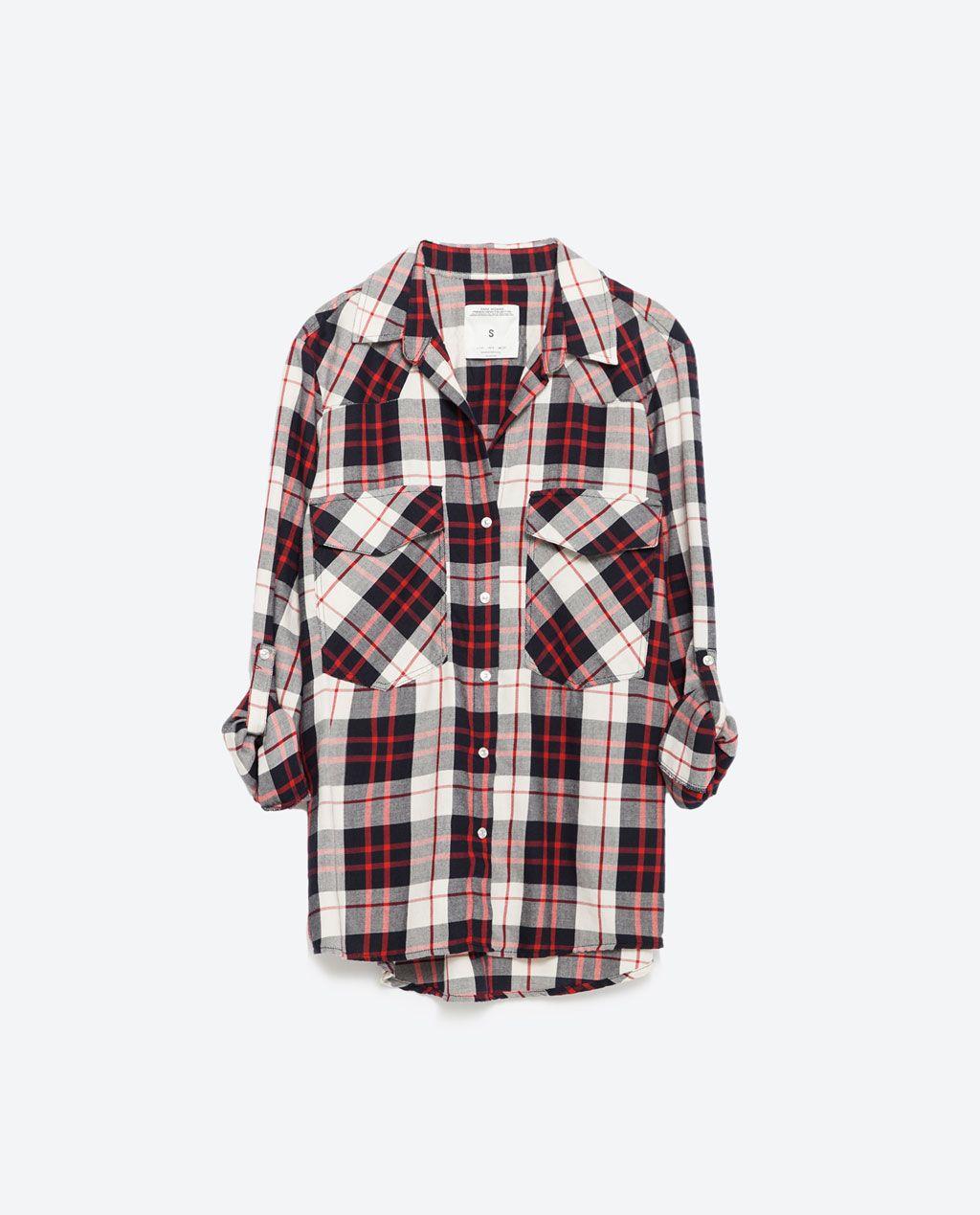 chemise carreaux tout voir chemises femme zara france mode pinterest chemise femme. Black Bedroom Furniture Sets. Home Design Ideas