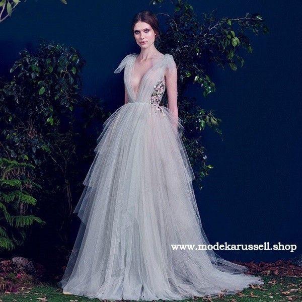 Tüll Abendkleid 2019 Rickele Silber #abendkleid #abendmode ...