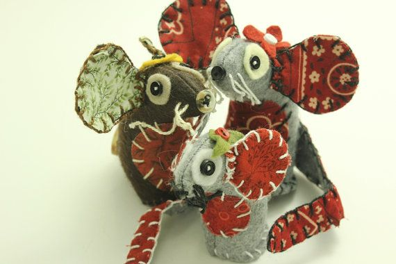 Mouse Stuffed Animals  Woodland Critters  by BessiesCreations, $29.00
