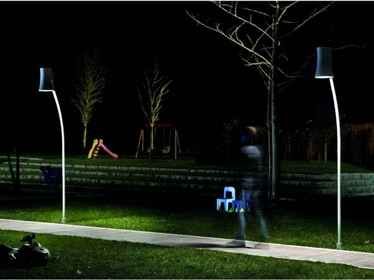 Moderne Gartenbeleuchtung Aussenleuchten Aluminium Giardina