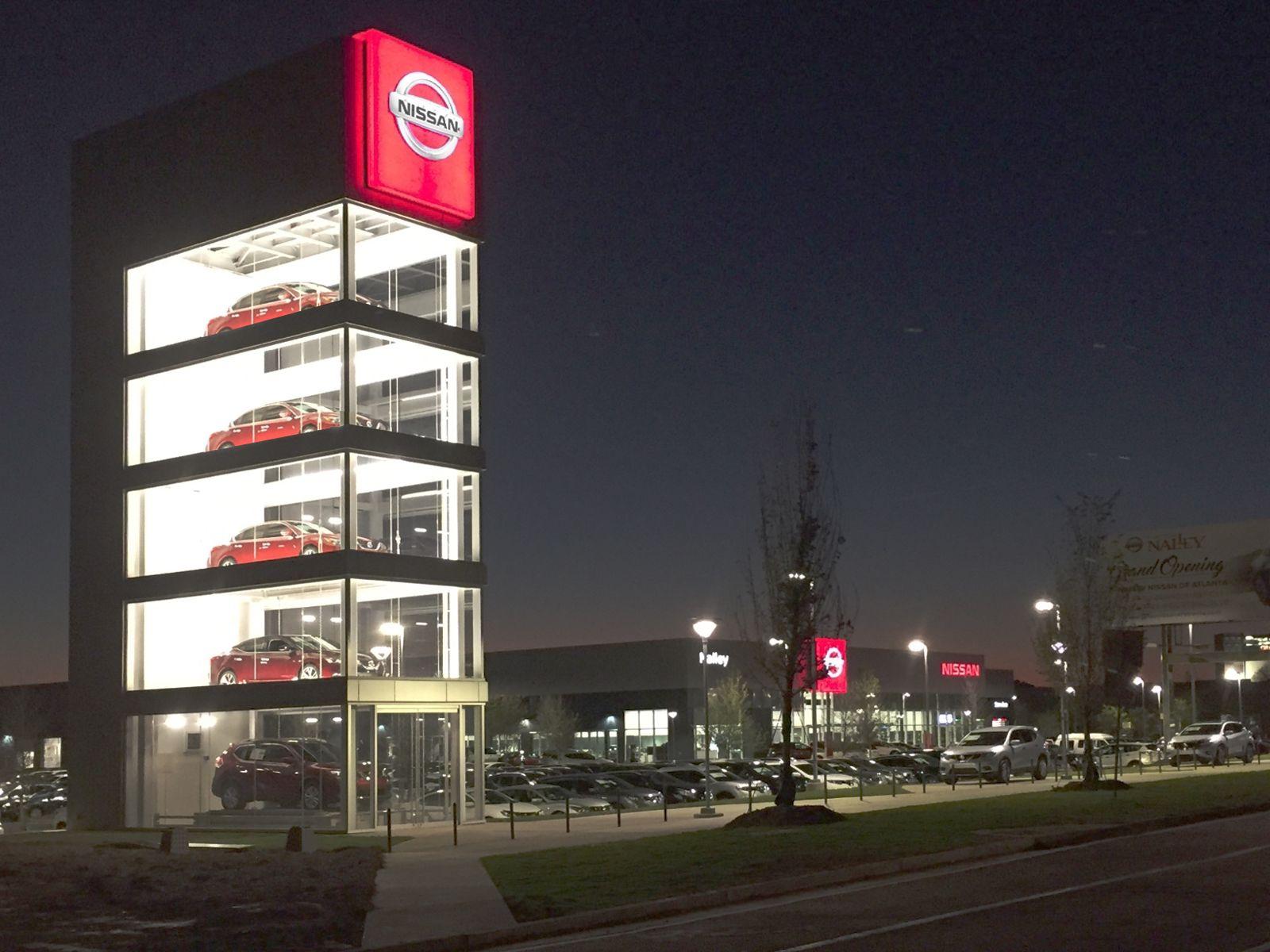 Nissan Tower Atlanta GA Auto Dealer Display Pinterest