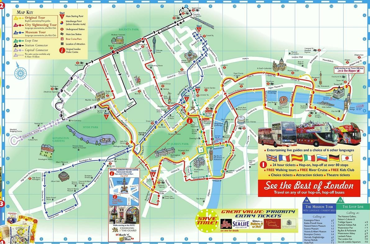 The Original Tour London Map.Pin By Clink Hostels On London Guide London London Tours Day