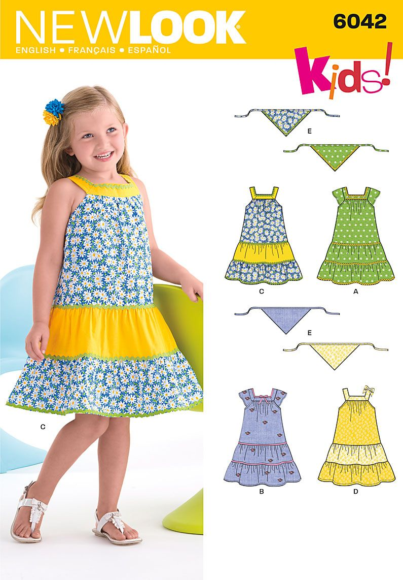 Simplicity 6042 kids clothes pinterest kids patterns new look pattern childs dress scarf this is a good basic pattern with a square neck jeuxipadfo Gallery