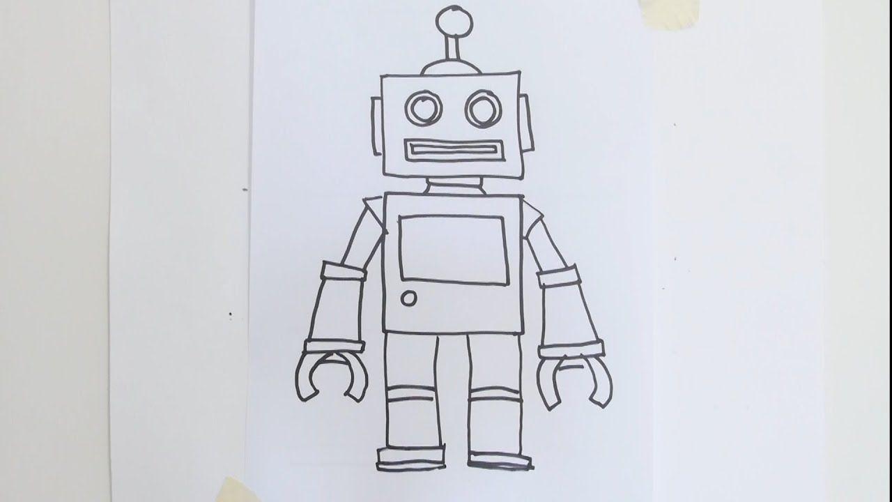 roboter malvorlagen zum ausdrucken youtube
