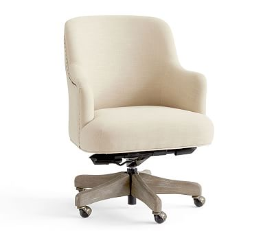 Get More Work Done With A Comfortable Chair The Reeves Desk Is Fully Upholstered And Features Decorative Nailheads Along Arms Back