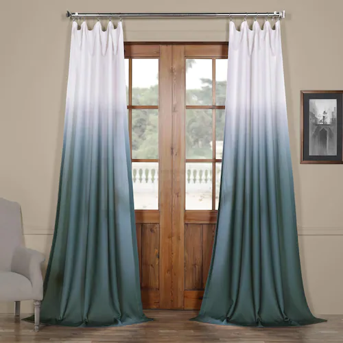Eff Ombre Faux Linen Semi Sheer Curtain Sheer Linen Curtains