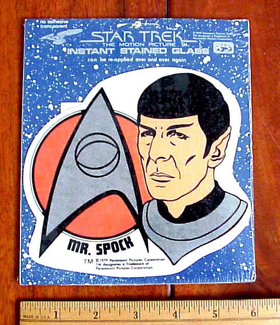 Leonard nimoy 1979 star trek motion picture mr spock stained glass sticker mip