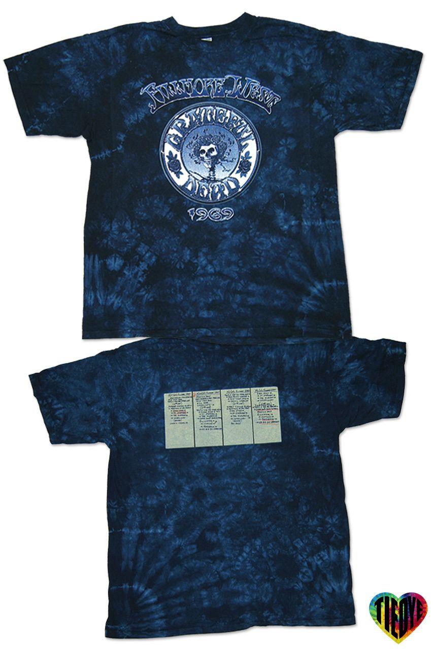 Grateful Dead   Fillmore 1969 Tie Dye T-Shirt