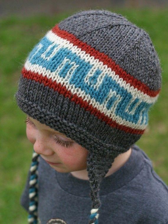 Knitting Pattern - Earflap Hat - Knit Hat Pattern - Knitted Hat ...
