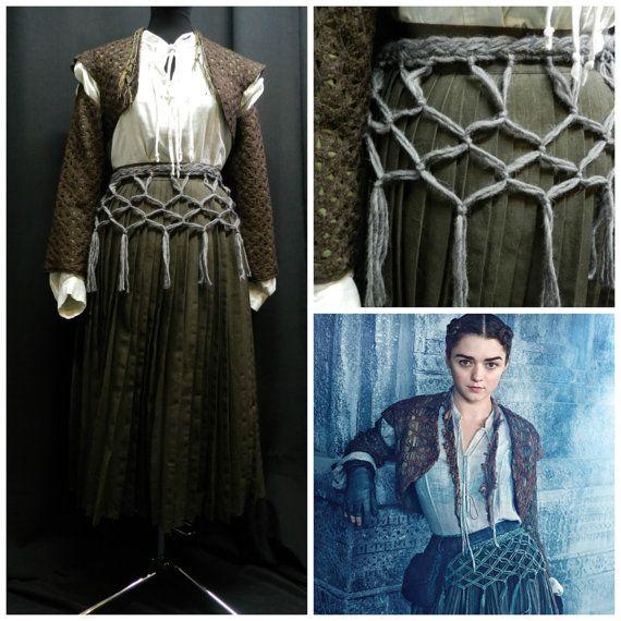 Game Of Thrones Arya Stark Costume Dress Custom By