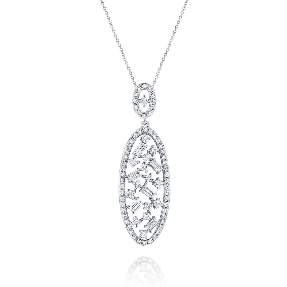 and pendant diamond pave roseark products baguette necklace