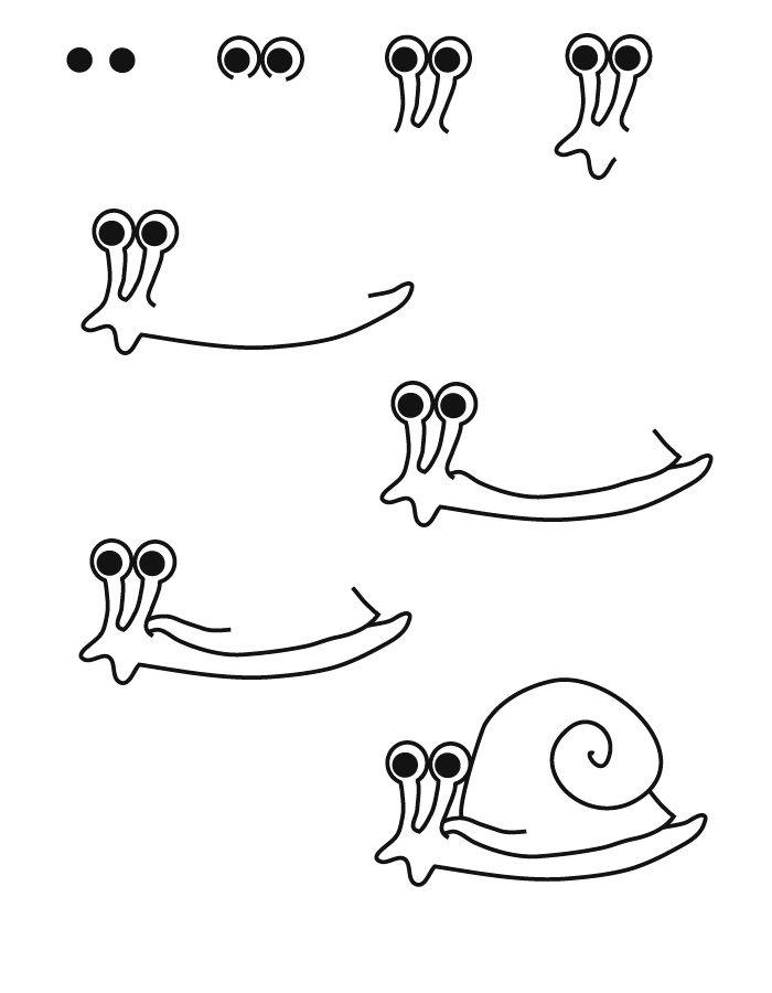 dessin escargot | Escargot dessin, Mouton dessin, Dessin