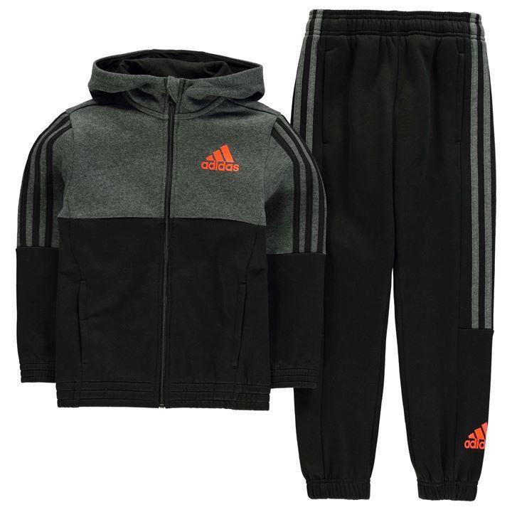 2648c234e5c5 adidas   adidas 3 Stripe Jogger Suit Junior Boys   Kids Tracksuits ...