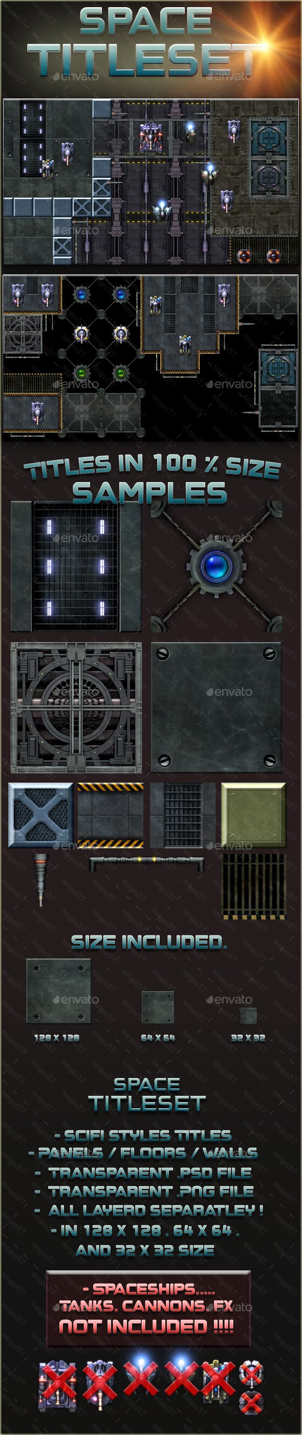 Scifi Space Titleset Tilesets Game Assets Download here
