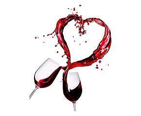 Cuadro impreso sobre tela Amore di… vino – 50x60