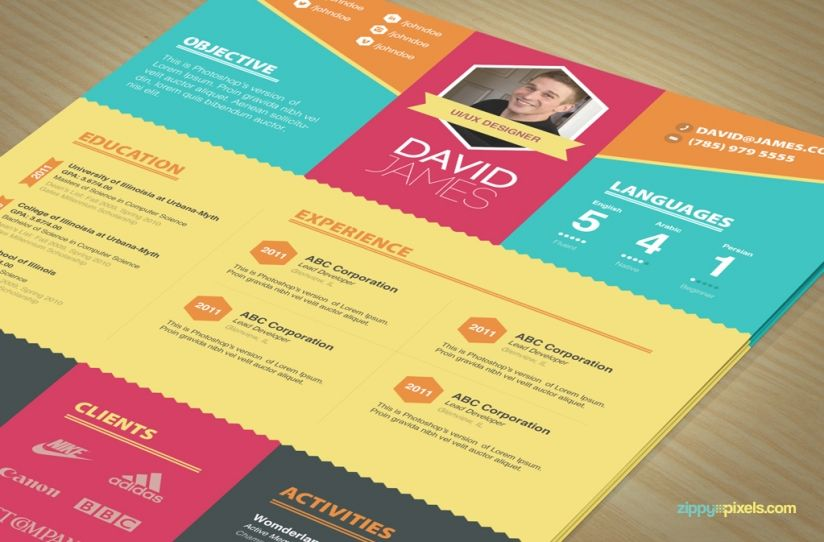 Colorful Stylish Resume and Cover Letter Templates u2013 3 color sets - free creative resume templates download