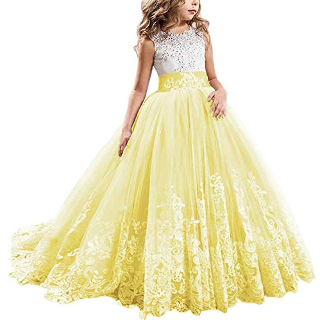 Blumenmädchen Kleid Kinder Spitzenkleid Prinzessin Partykleid Hochzeit Festkleid
