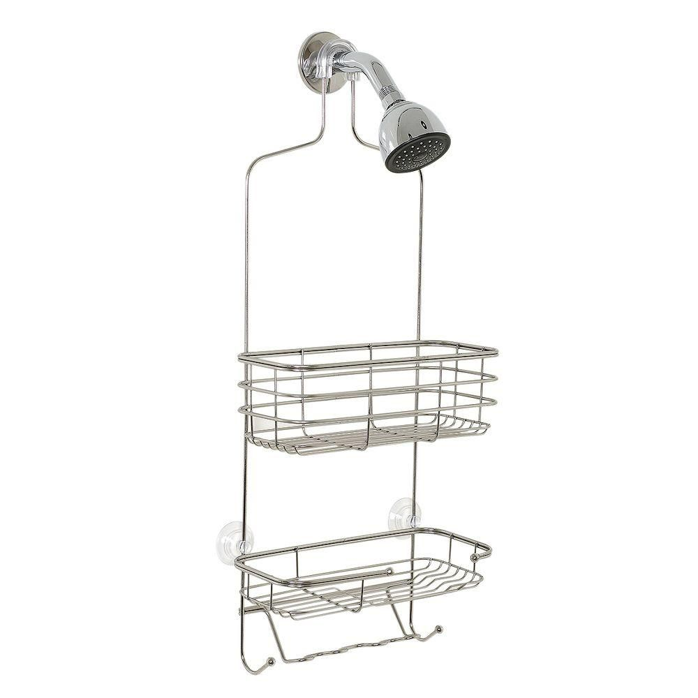Home Depot Shower Caddy Prepossessing Glacier Bay Overtheshowerhead Caddy In Chrome  Organizing And Bath Inspiration Design