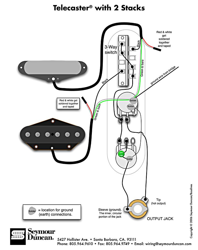 Telecaster Wiring Diagram Tech Info In 2018 Pinterest Guitar Instal Strat Humbucker Fender Baja Vintage Guitars