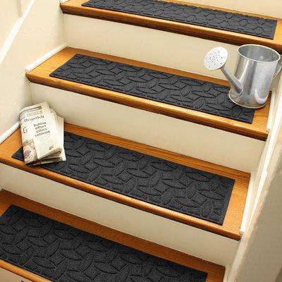 Tucker Murphy Pet Beauvais Elipse Stair Tread Colour Charcoal Stair Tread Rugs Stair Treads Carpet Stair Treads