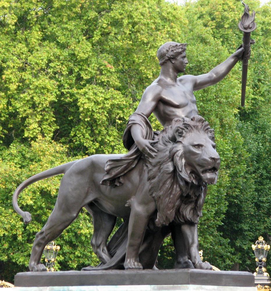 Lion statue outside top view Google 搜索 Victoria