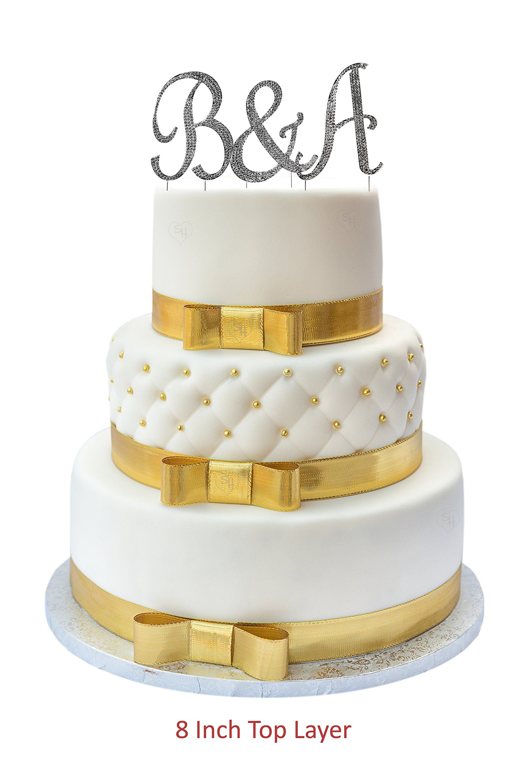 Wedding Cake Topper Rhinestone A Letter Silver With Bling Be Sure To Check Out This Awesome Product