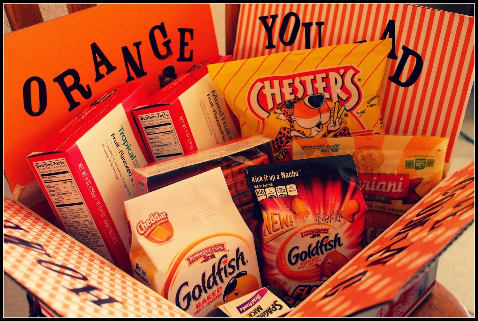 Orange You Glad You Are Coming Home Care Package Idea