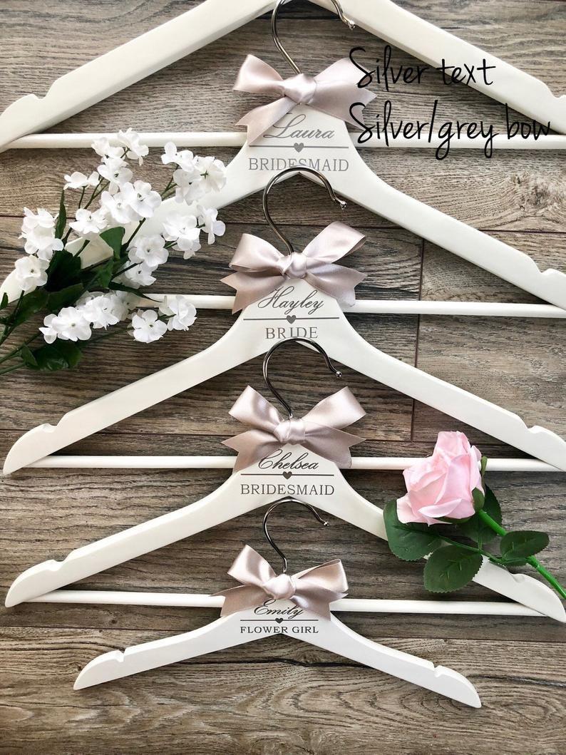 Personalised Wedding Hangers Name Role Elegant Cursive Text Etsy In 2020 Wedding Hangers Personalized Wedding Hangers Wedding Dress Hanger