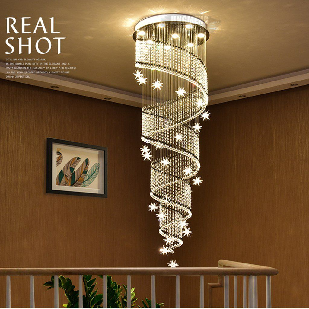 Saint Mossi Modern Crystal Swirl Design Raindrop