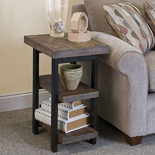 Pomona 2 Shelf End Table Rustic Natural Ebay With Images