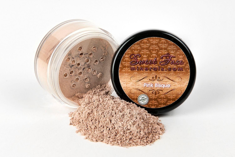 Bisque Foundation Mineral Makeup Jar Matte Sealed Bare