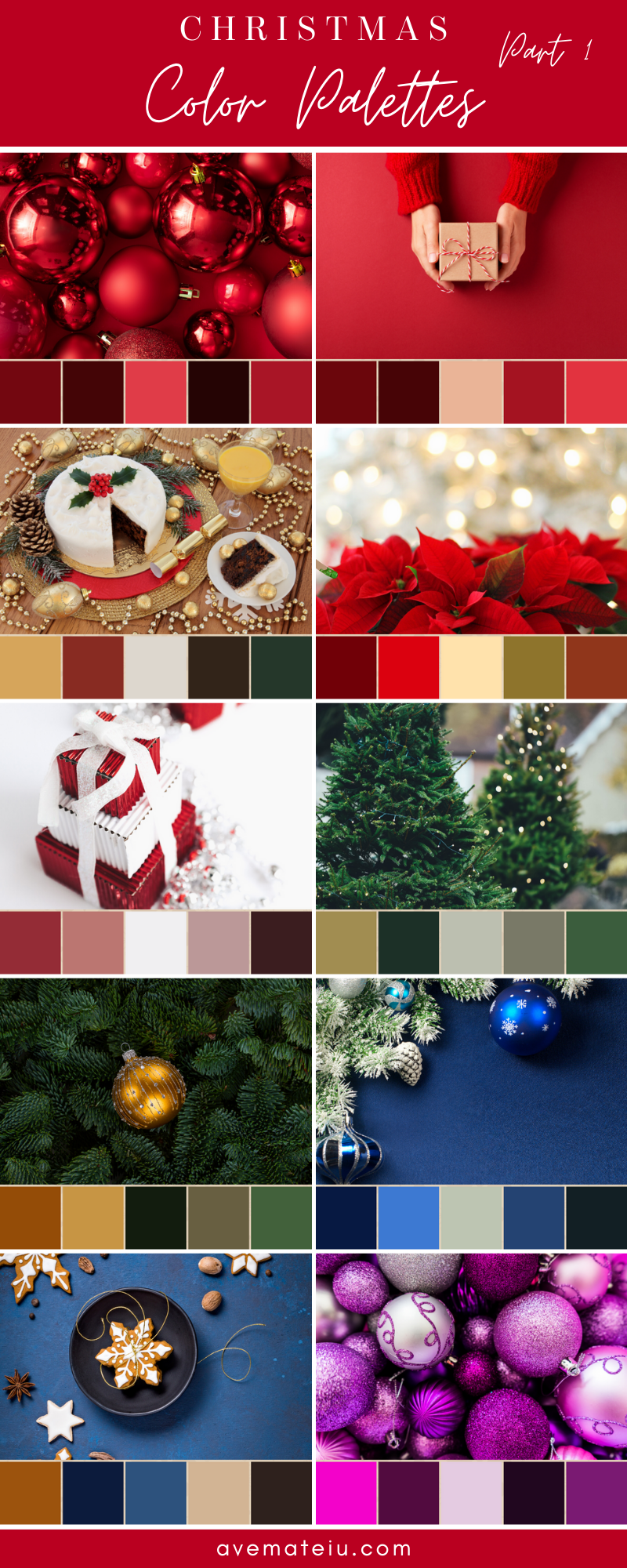 Christmas Color Schemes For 2020 WordPress.in 2020 | Christmas color palette, Christmas colour