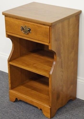 A maple night stand will be needed for extra storage such as books ...