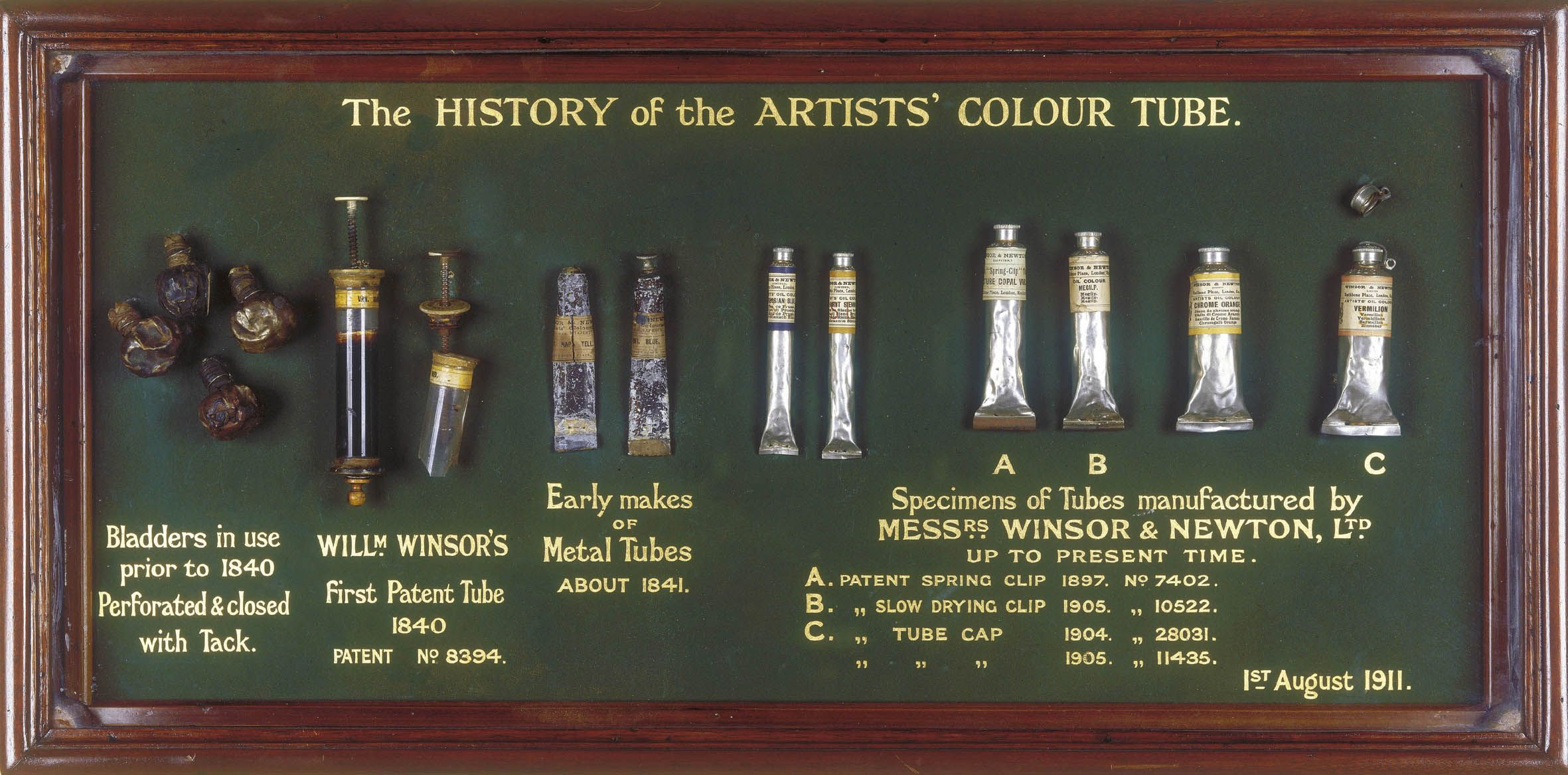Winsor And Newton Museum Tube Display Paint Tubes Winsor
