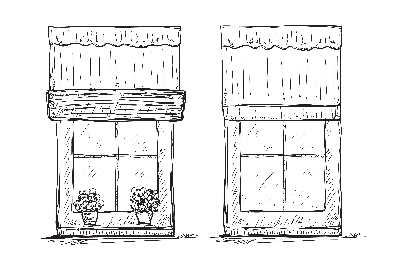 Windows Sketch Drawing Interior Sketches Window Sketch