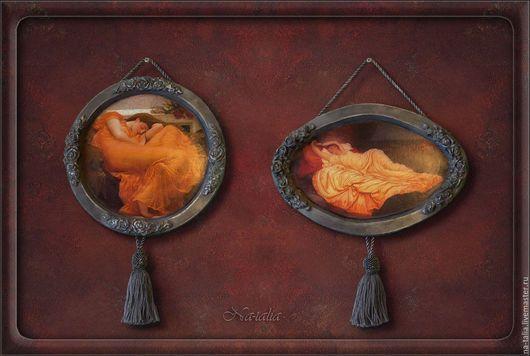 Репродукции ручной работы. Ярмарка Мастеров - ручная работа. Купить Панно-диптих Сон. Handmade. Оранжевый, Картины и панно