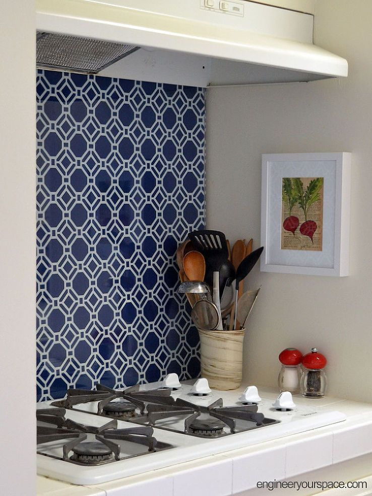 Rental Apartment Kitchen Ideas rental kitchen makeover: from generic white to upgraded blue