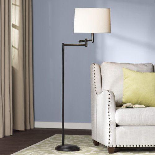 "found it at wayfair  hamill 60"" floor lamp  swing arm"