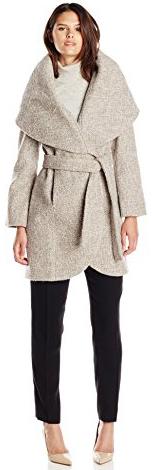 T Tahari Women's Marla Wool Wrap Coat Tweed - Fashion Travel ...