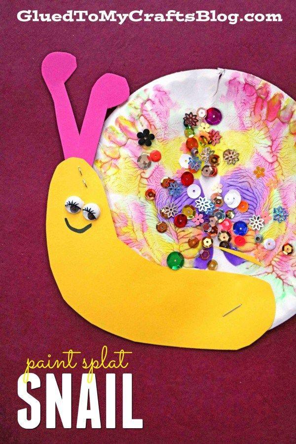 Paint Splat Snails - Kid Craft