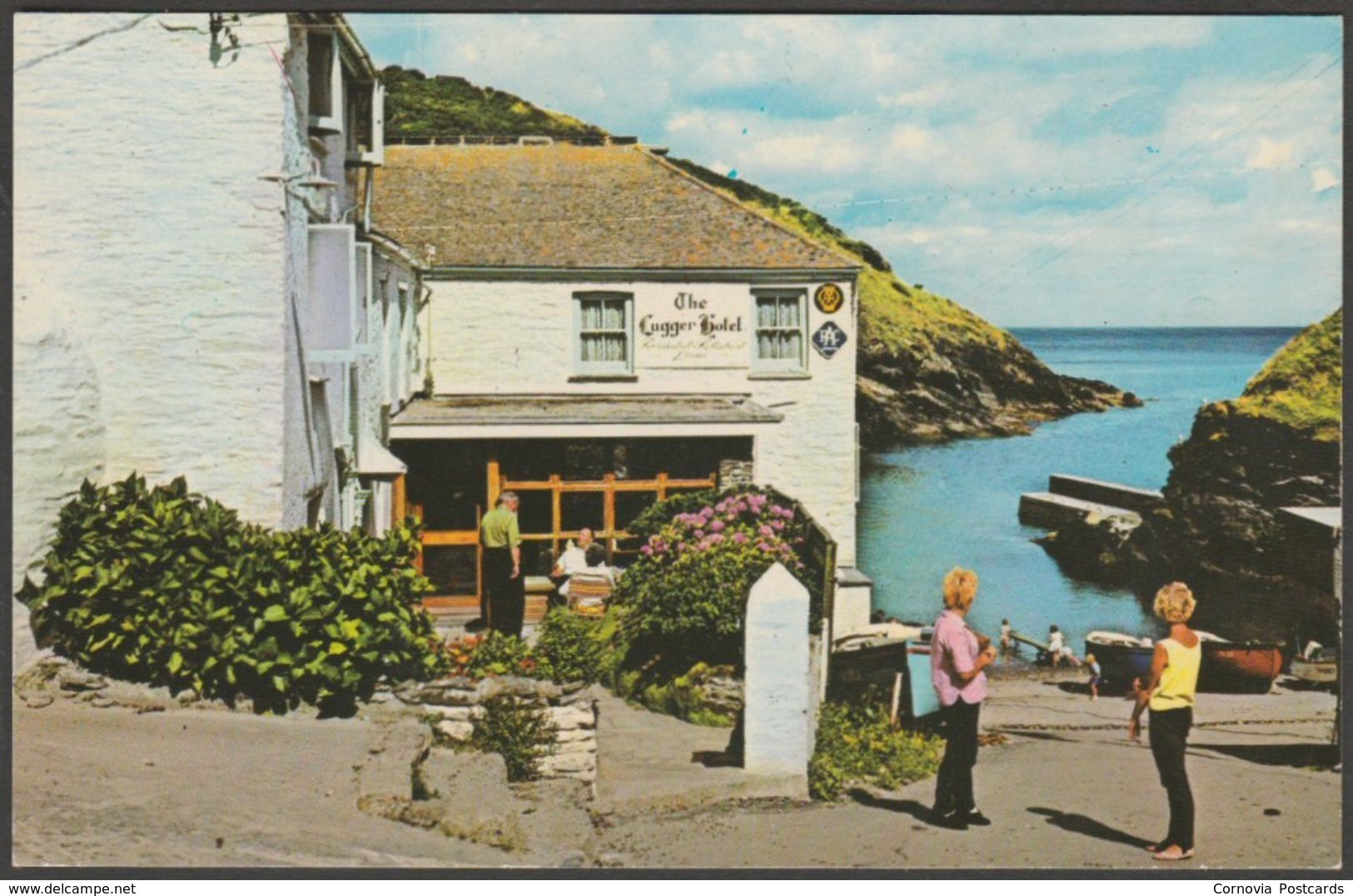 The Lugger Hotel Portloe Cornwall C 1960s Photo Precision Postcard For Sale On Delcampe Postcard Photo Hotel