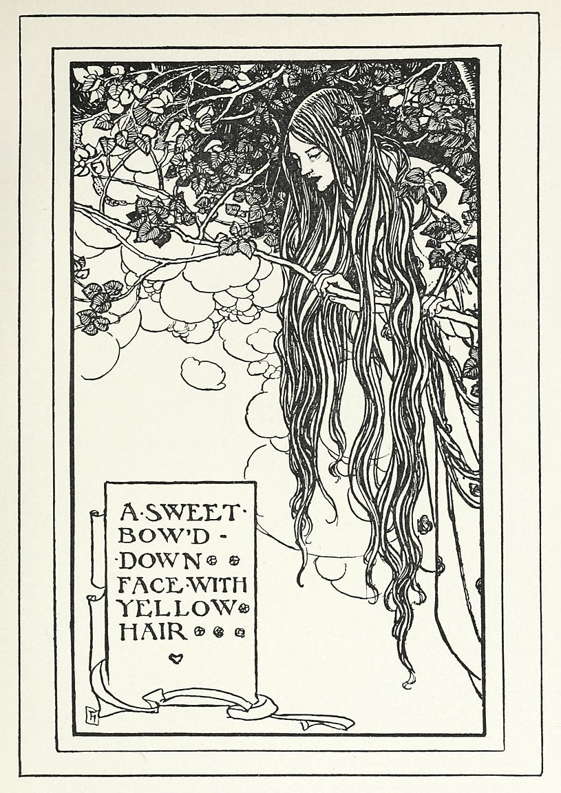 Illustration By Florence Harrison, From Early Poems Of William Morris,  Newyork,