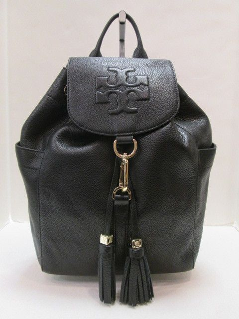 23df6a8a95 Keeks Buy Sell Designer Handbags - Tory Burch 22149657 Black Leather Thea  Backpack