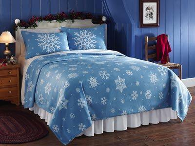 Fleece Snowflake Pillow Shams  $11.99